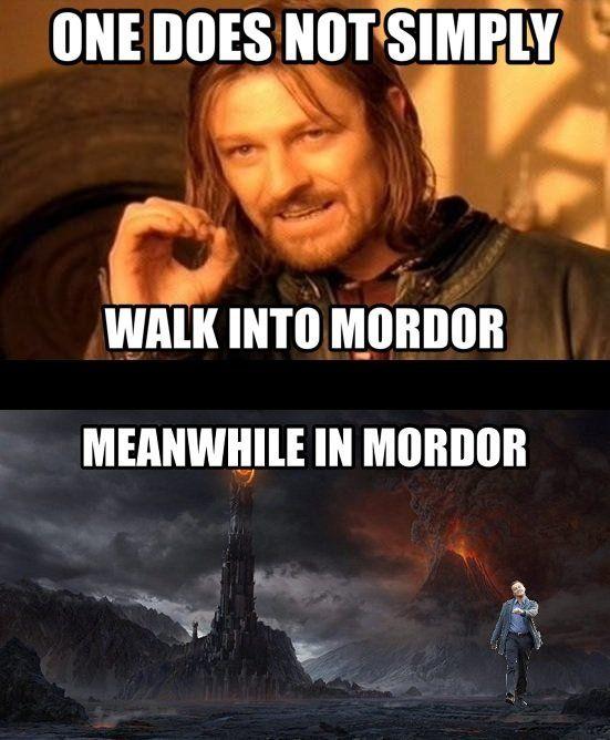 Leonardo Dicaprio Walking Meme Mordor