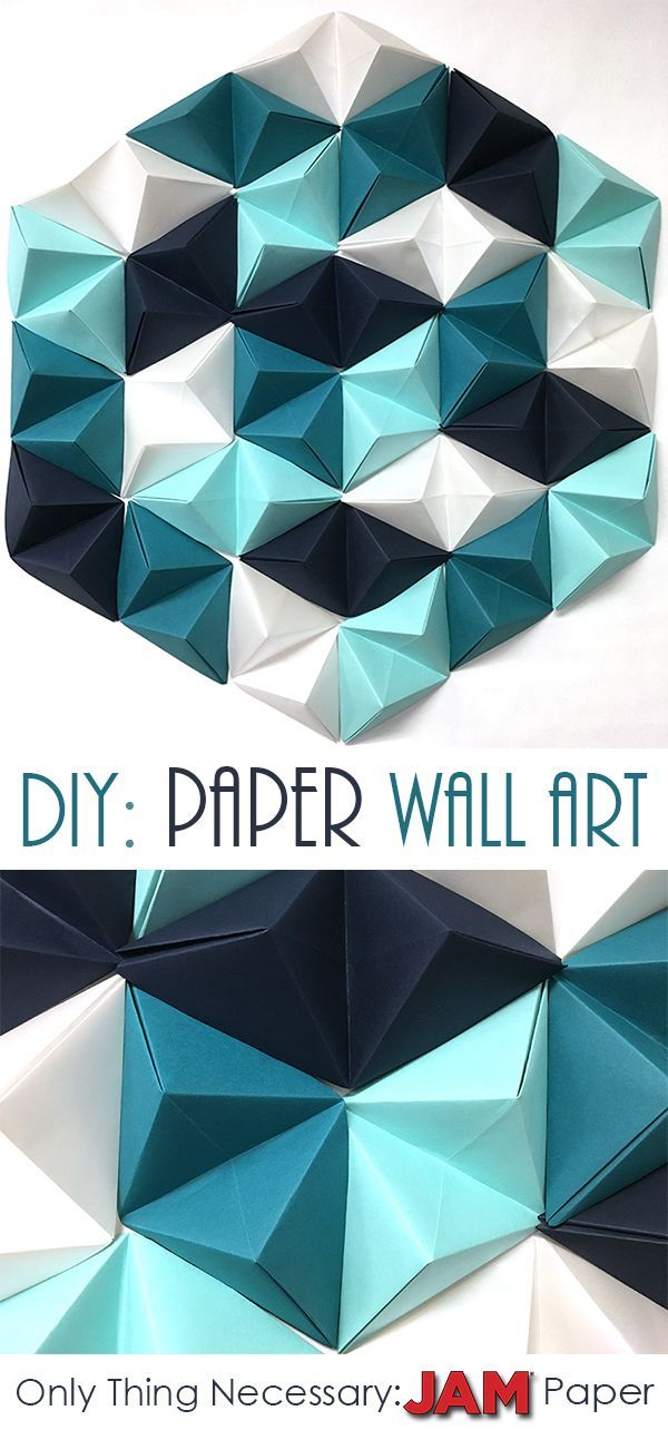 Read on to find 8 easy steps to make the perfect geometric paper wall art piece! The only necessary item y