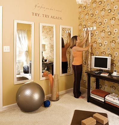1000 ideas about Small Home Gyms on Pinterest  Home Gyms Home Gym Design and Exercise Rooms