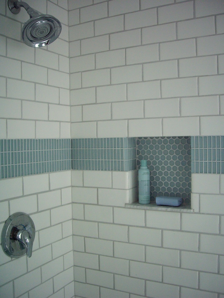 Love This Accent Tile And Niche Bath Fixtures And Finishes Pinterest Love This Love And