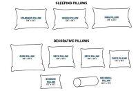 Standard Pillow Sizes | Cheat Sheets | Pinterest | Throw ...