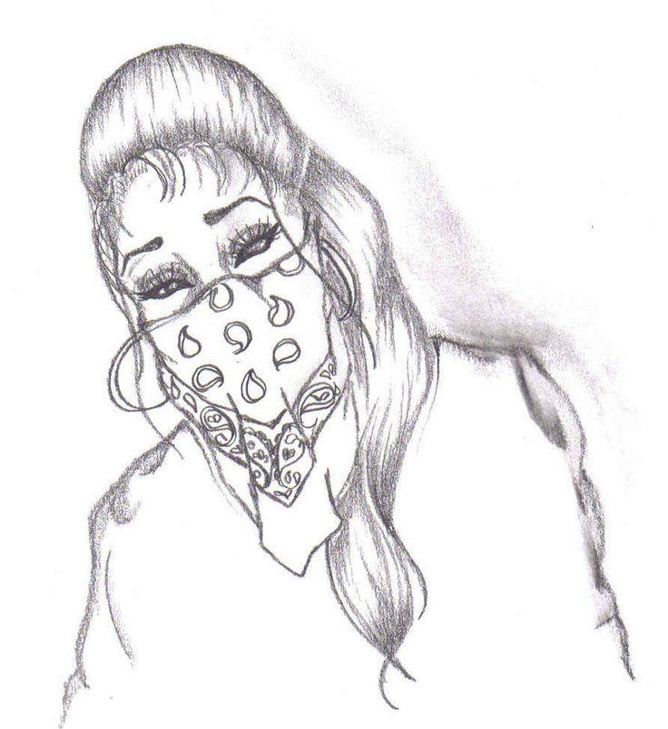 gangster love drawings  gangster girlmiszfortune