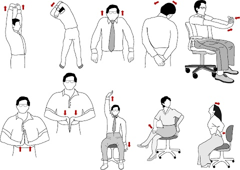Office Exercises: If you have trouble staying fit at work