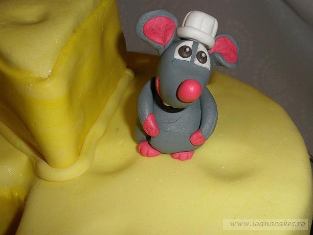 Cartoon Pastry Chef Decorating Cake