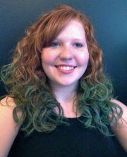redhead hair chalking #dip dye