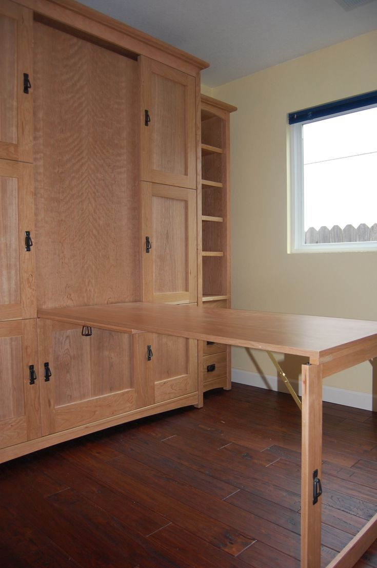 Wallbed murphy bed with hidden folddown table or desk