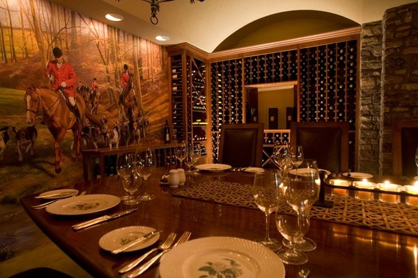Private dining room and wine cellar at Goodstone Inn  Estate in Middleburg  Culinary