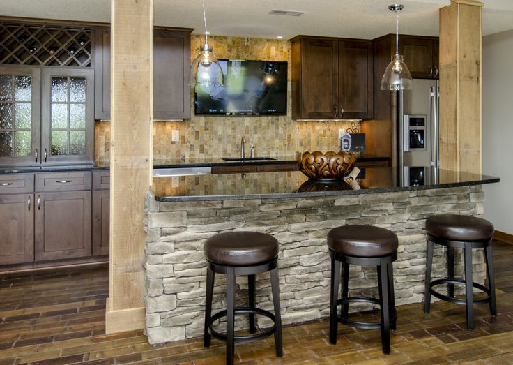 stone on bar front wine holder travertine backsplash tv