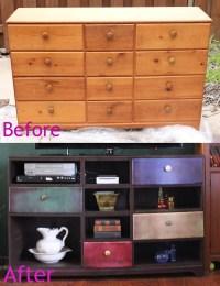 dresser turned entertainment center   For the home ...