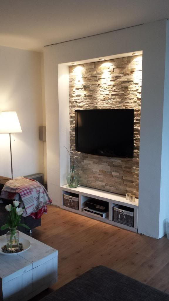 Steinwand Wohnzimmer Erfahrungen