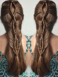 Fishtail braided lopped hairstyle idea inspiration ...