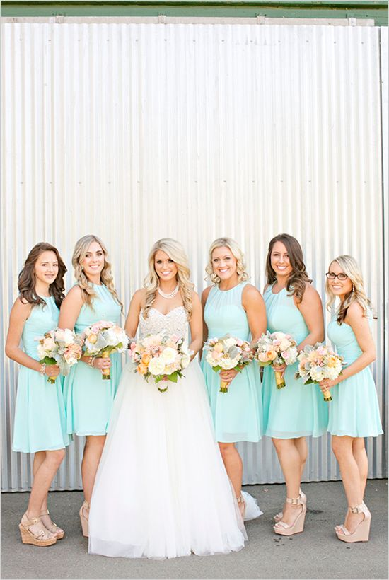 Mint bridesmaid dresses @wedding chicks