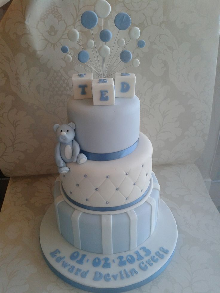 25 best ideas about Boys Christening Cakes on Pinterest