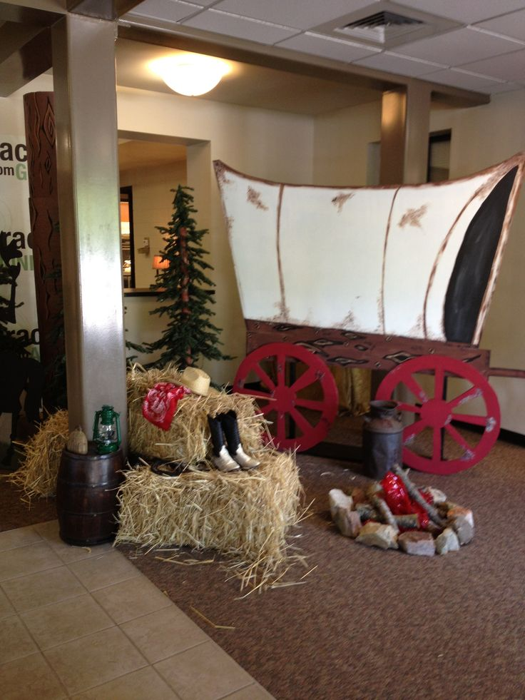 Wild West covered wagon  VBS Western Decorating Ideas