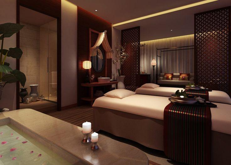 SPA massage room interior design 3d  3D house Free 3D
