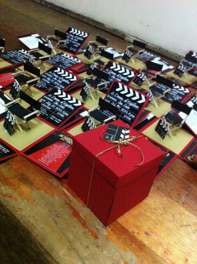 Hollywood Exploding Box! Debut Invitation Cards Handmade