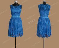 lace bridesmaid dress, royal blue bridesmaid dress, blue ...