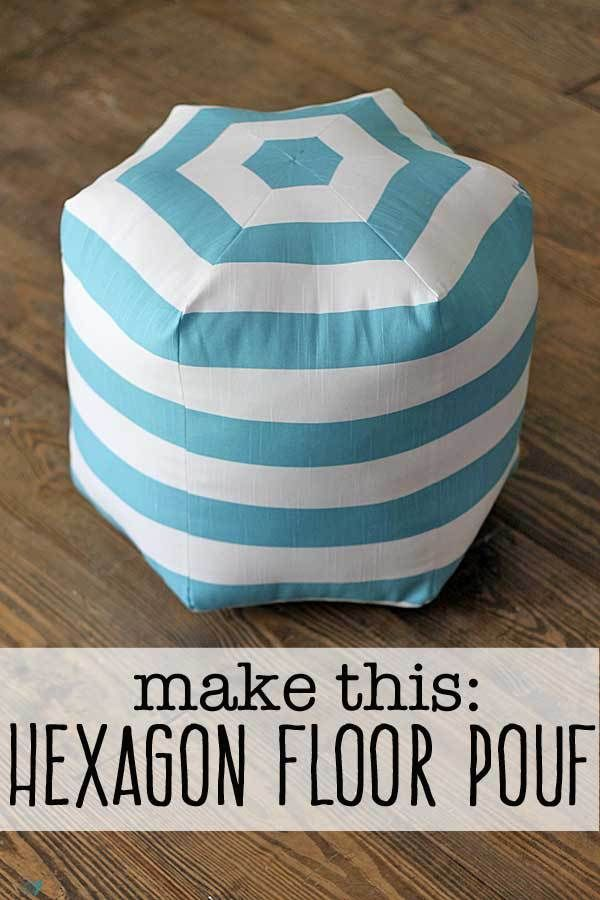 1000 ideas about Floor Pouf on Pinterest  Knitted Pouf