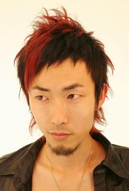 Men hair red highlight  Mens  Pinterest  Fendi bags