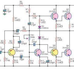 2000 Watts Power Amplifier Schematic Diagram Class For Library Management System In Uml 140 Watt Audio Using 6 Transistors   Elprocus Pinterest And