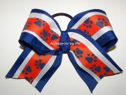bulldogs cheer bow blue orange