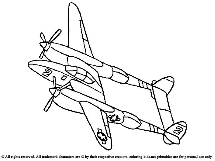 17 Best images about Airplanes Coloring Pages on Pinterest