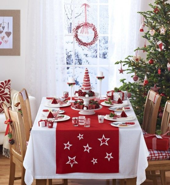 cozy christmas kitchen decor ideas digsdigs love the tree in the dining room