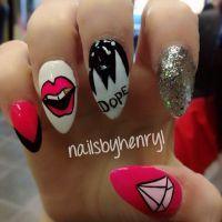 Nail designs Dope, Diamond Supply Co.