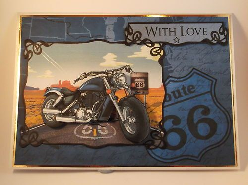 Men's Birthday Card Motorbike Route 66 By