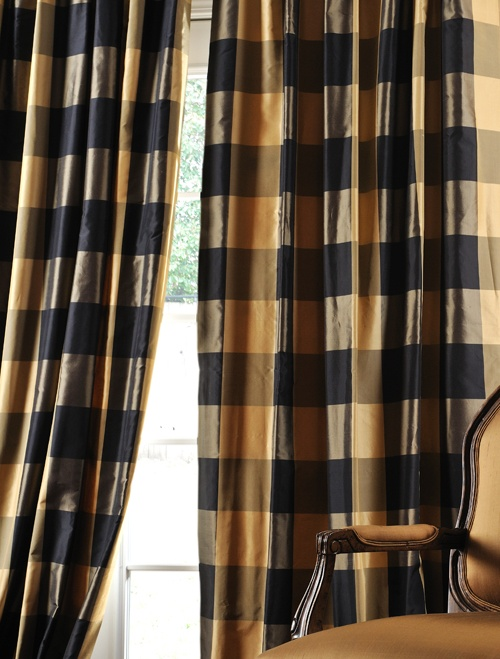 Eastwood Taffeta Silk Plaid Curtains To Do On Our House Pinterest Curtains Amp Drapes