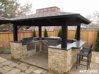 South Tulsa Outdoor BBQ Island   Palapas asadores ...
