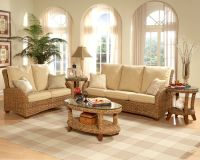 Martinique Furniture Set Wood and wicker are complementing ...
