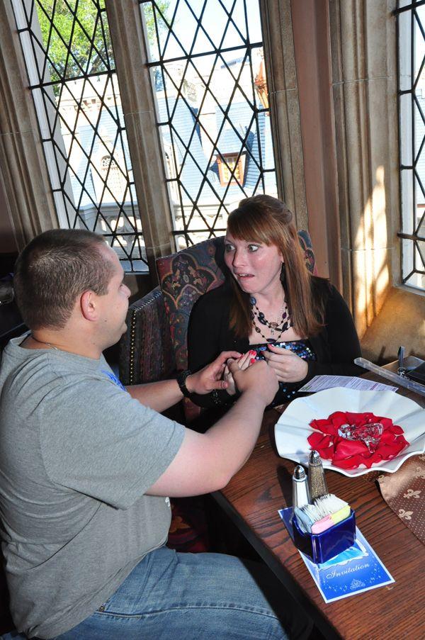 Walt Disney World Proposal At Cinderellas Royal Table