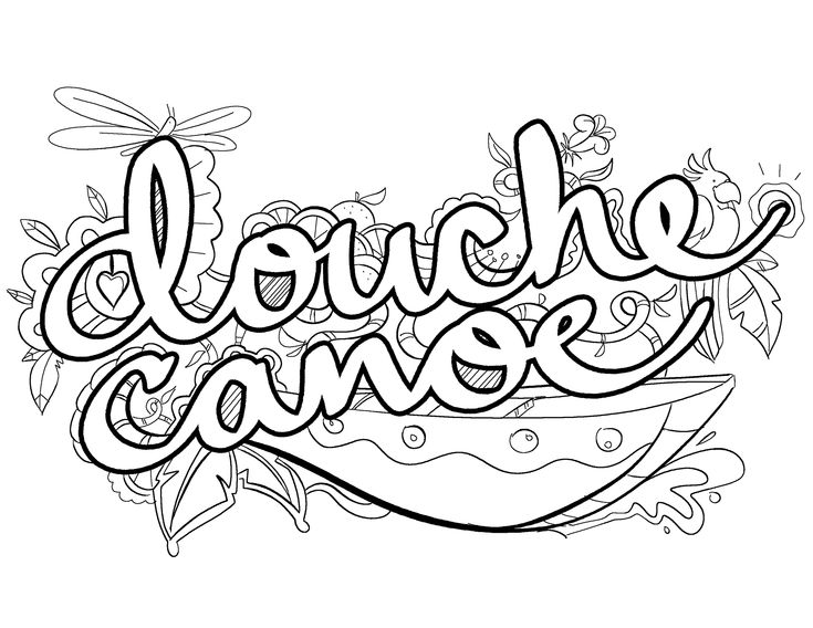 Canoe Coloring Pages Printable. Canoe. Best Free Coloring