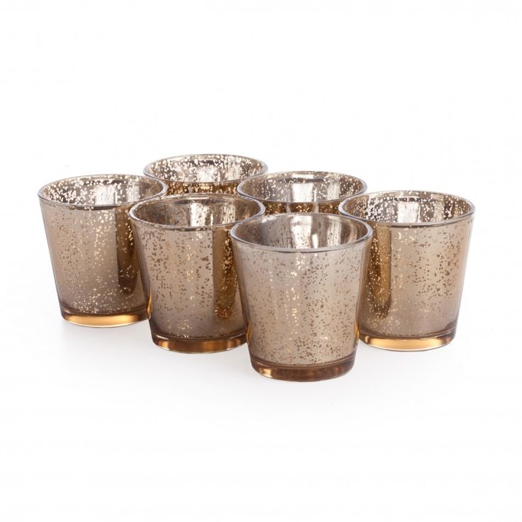 For the centerpieces? Glass Votive Candle Holders
