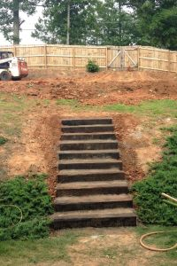 rail road ties, stairs, landscaping stairs. | The Counting ...