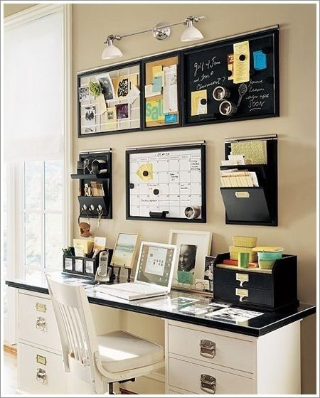 I want this desk & wall organiser. (Edit May2015: I have finally found it & have linked the site.):