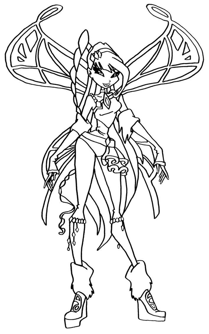 17 Best images about Winx Coloring Pages on Pinterest