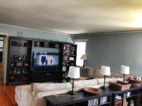 Living room Entertainment Center Angle 3 Black/Brown ...