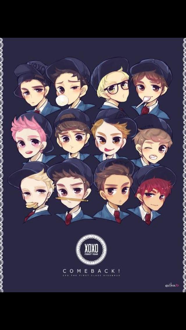 Korean Cartoon Cute Wallpaper 17 Best Images About K Idol Chibi On Pinterest A Well I