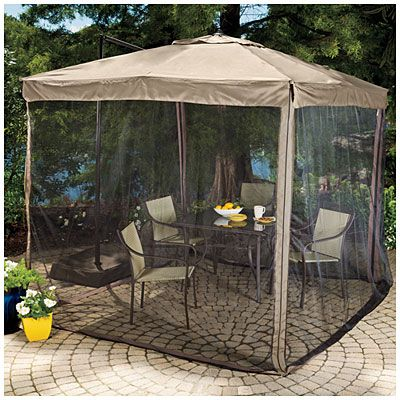 umbrella chair walmart desk tufted $160 - wilson & fisher® offset 8.5' square with netting at big lots. | outdoor porch ...