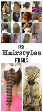 1000 ideas easy school hairstyles