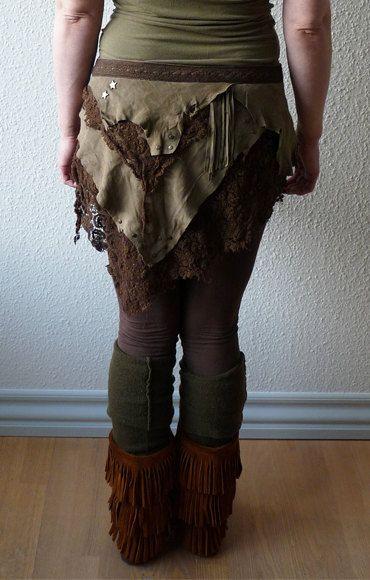 SHORT NATIVE SKIRT steampunk pixie boho hippie gipsy  Boho hippie Skirts and Boho