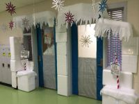 Winter Wonderland Classroom Door Decoration. I had many