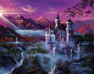 castle painting forest mystical castles fantasy magical mystery google places forests landscape