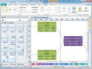 PERTChart Create PERT charts for project or task management, timetables, work breakdown