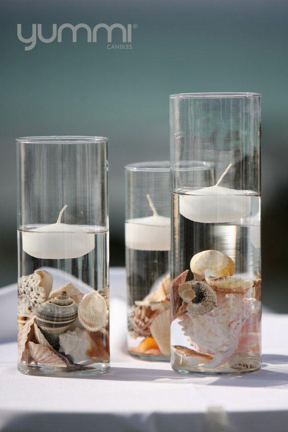 deze kaarsen brengen vooral de strand sfeer naar boven in het strandhuisje, leuk als accessoire.