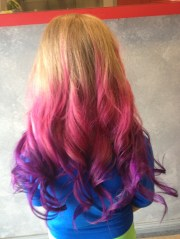 pink purple ombr hair color