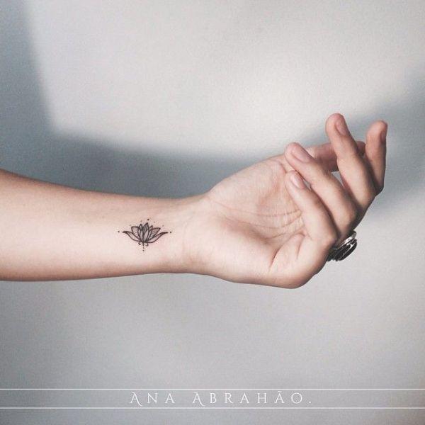 Small Lotus Flower Tattoo Wrist Classycloudco