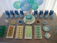 [Boy Party] Owl Themed First Birthday Party! | Spaceships ...